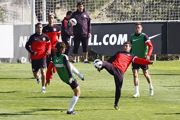 El Atlético de Madrid se ejercita pensando en la Real Sociedad