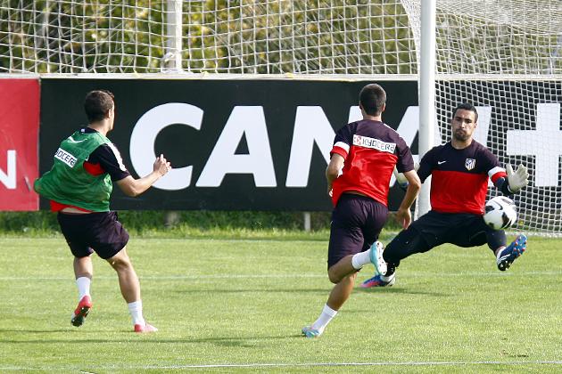 El Atlético de Madrid se ejercitó en doble sesión