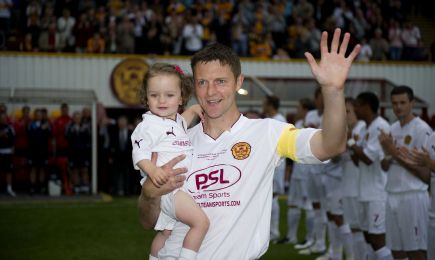 Stephen Craigan being recognised for his efforts at his testimonial last summer