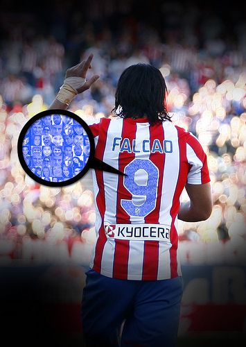 Los dorsales de las camisetas del Atlético lucirán los rostros de sus aficionados