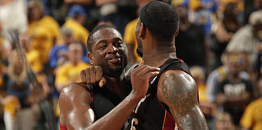 LeBron James y Dwyane Wade empatan la serie ante Indiana Pacers