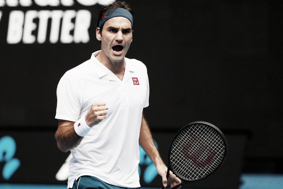 Em jogo de alto nível, Federer bate Evans e segue firme no Aberto da Austrália