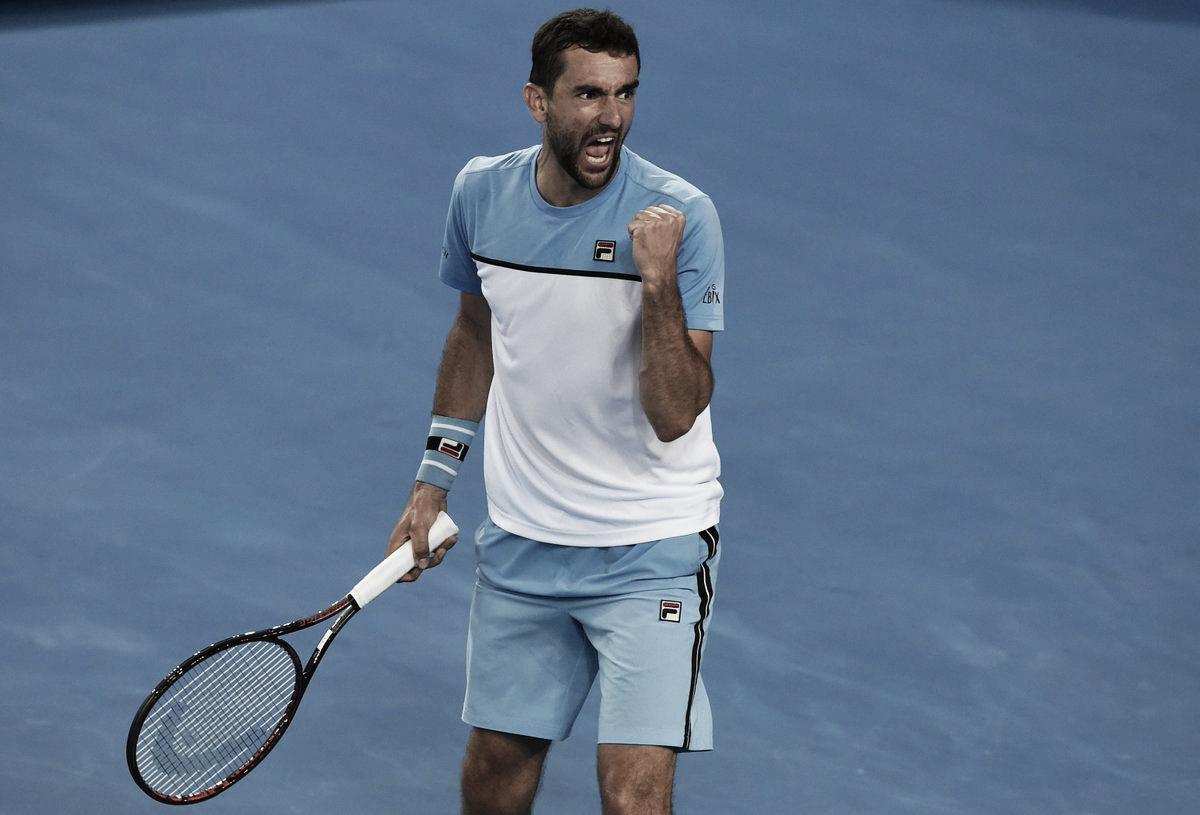 Em um dos grande jogos do torneio, Cilic vira contra Verdasco e segue vivo no Australian Open