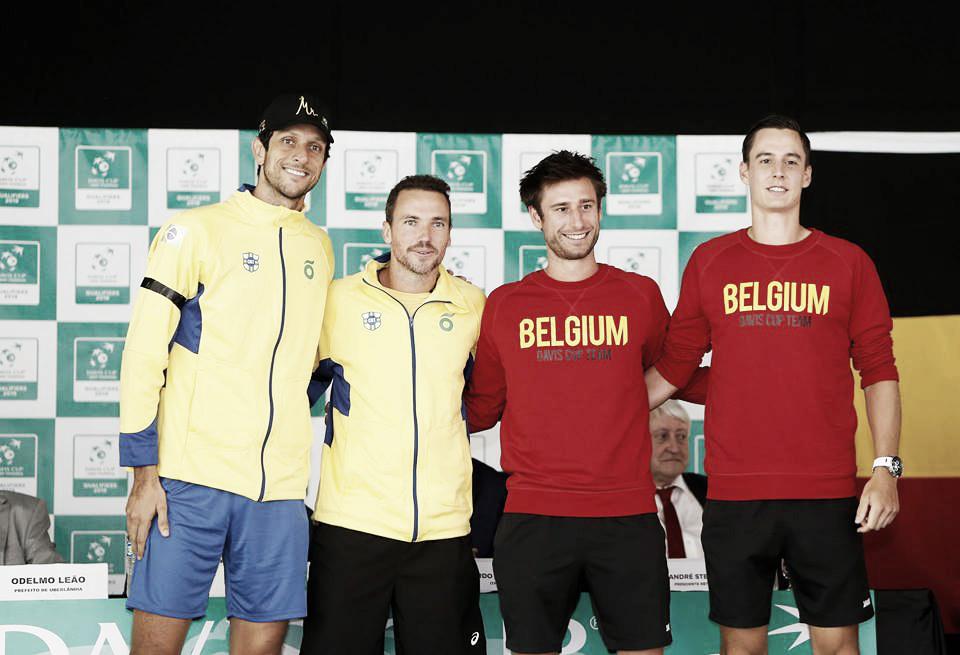 Vliegen/Gille batem Soares/Melo e deixam Bélgica a uma vitória de fechar o confronto contra o Brasil