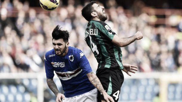 Il Sassuolo strappa un punto a Genova, con la Samp è 1-1