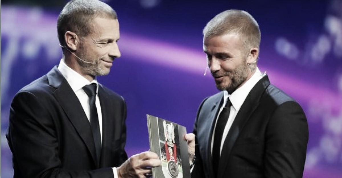 David Beckham recebe Prêmio Presidencial da UEFA