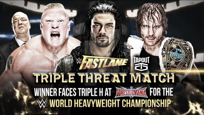 Vista al pasado: Brock Lesnar vs Roman Reigns vs Dean Ambrose; WWE Fastlane 2016