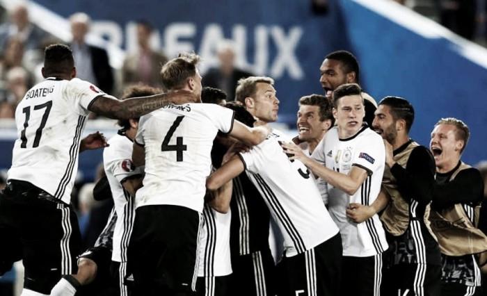 Neuer brilha, Alemanha quebra tabu ao bater Itália nos pênaltis e está na semifinal