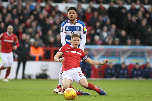 Luongo in action against Forest last season. Image courtesy of JMS Photography.