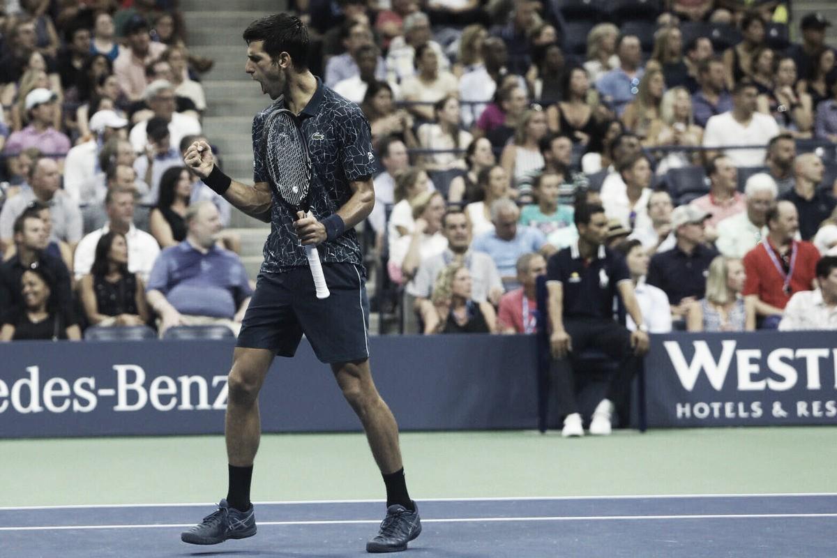 Djokovic leva susto, mas bate Sandgren e segue vivo no Aberto dos EUA