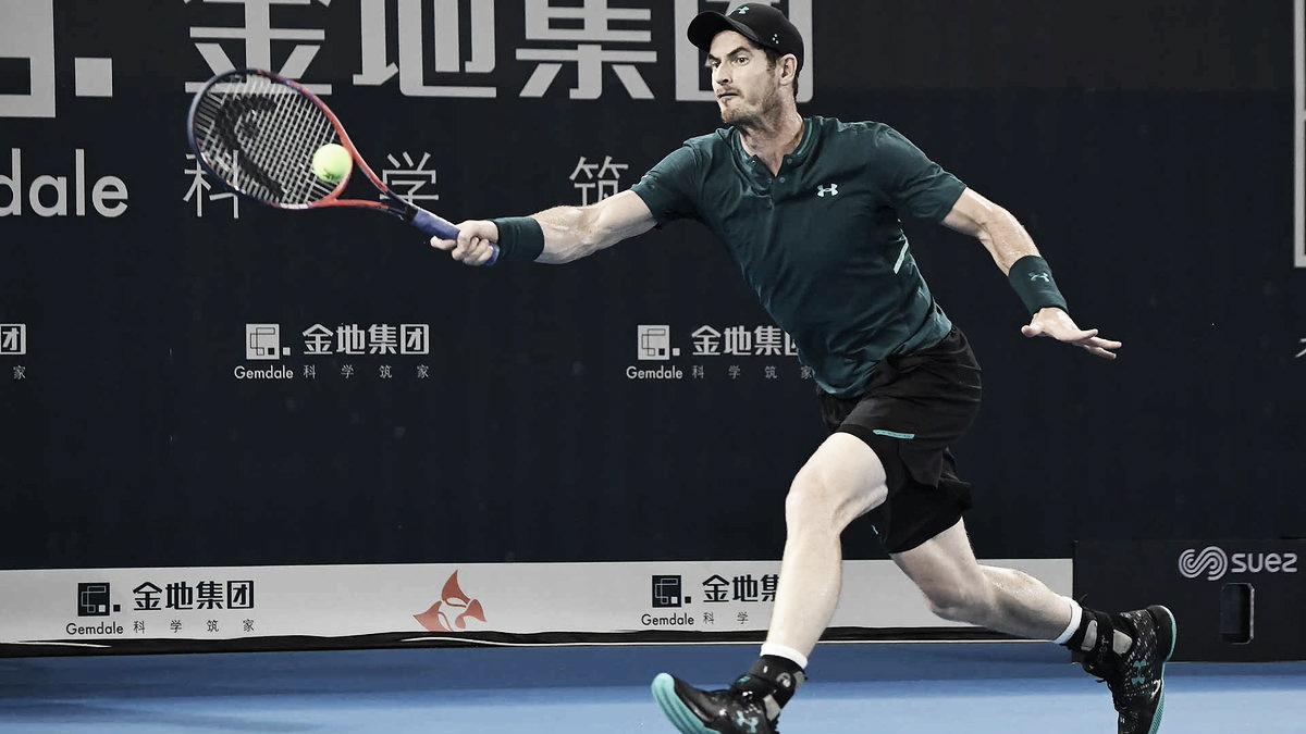 Em jogo apertado, Murray conta com desistência de Zhang para avançar no ATP 250 de Shenzhen