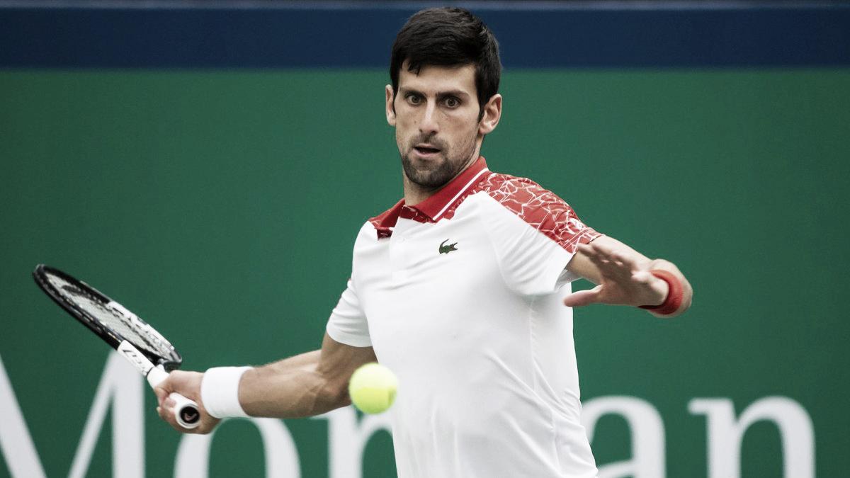 Djokovic mantém boa fase, bate Anderson e segue firme rumo ao tetra em Shanghai