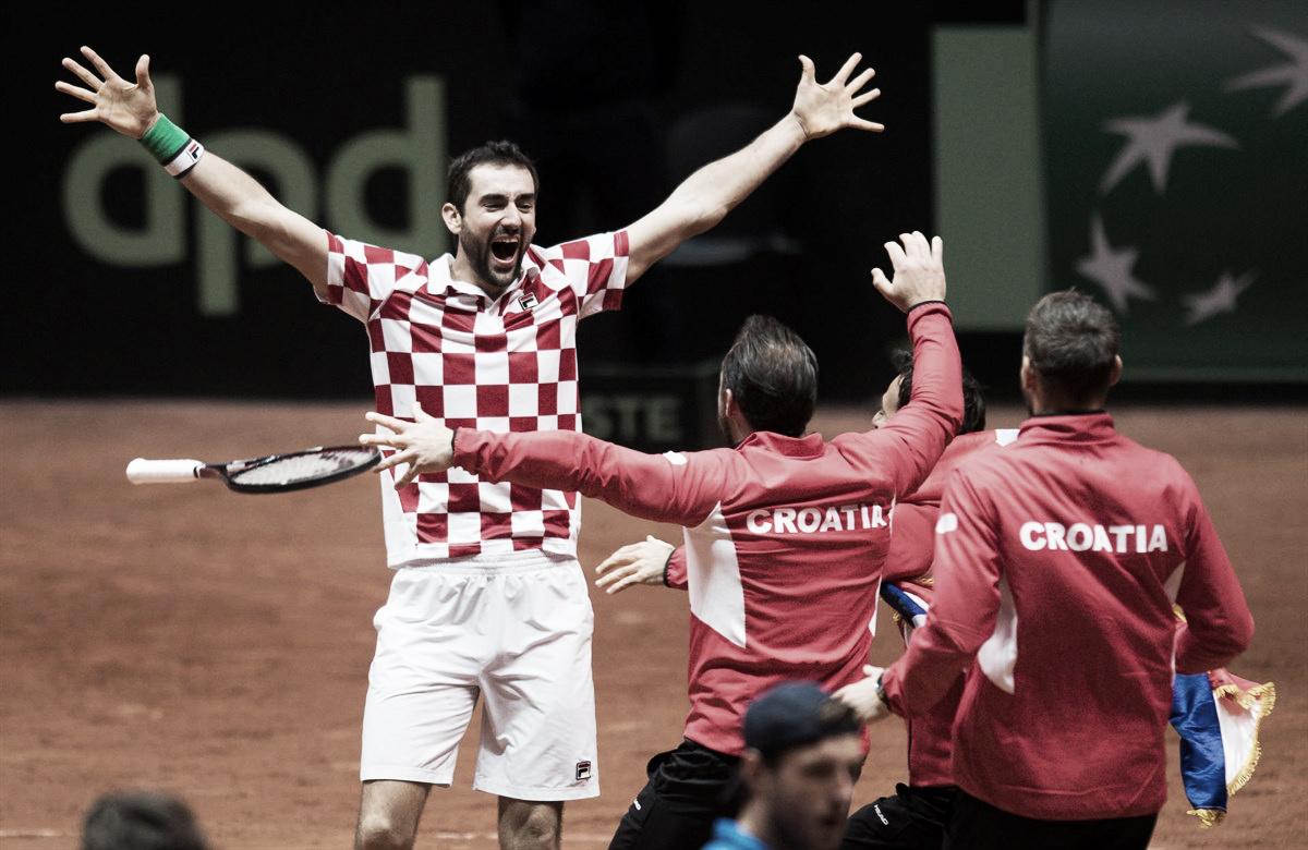 Cilic supera Pouille e Croácia conquista bicampeonato da Copa Davis