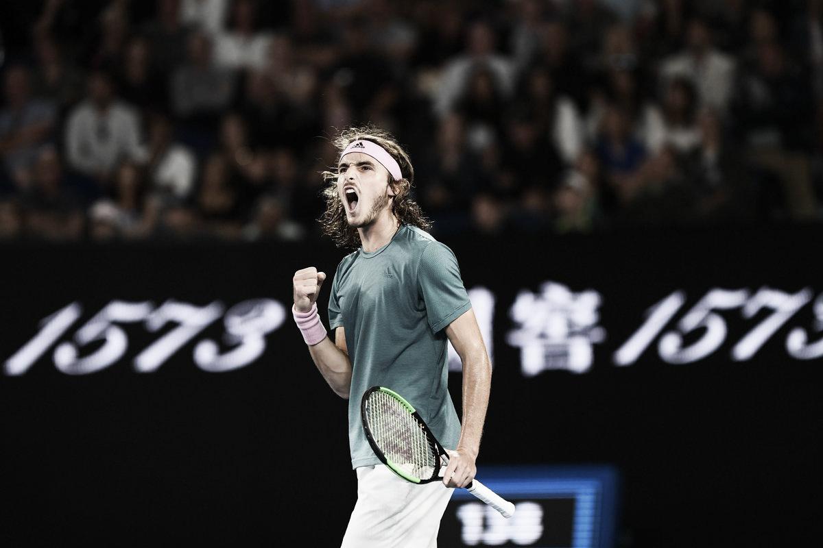 Tsitsipas faz história e elimina Federer nas oitavas do Aberto da Austrália