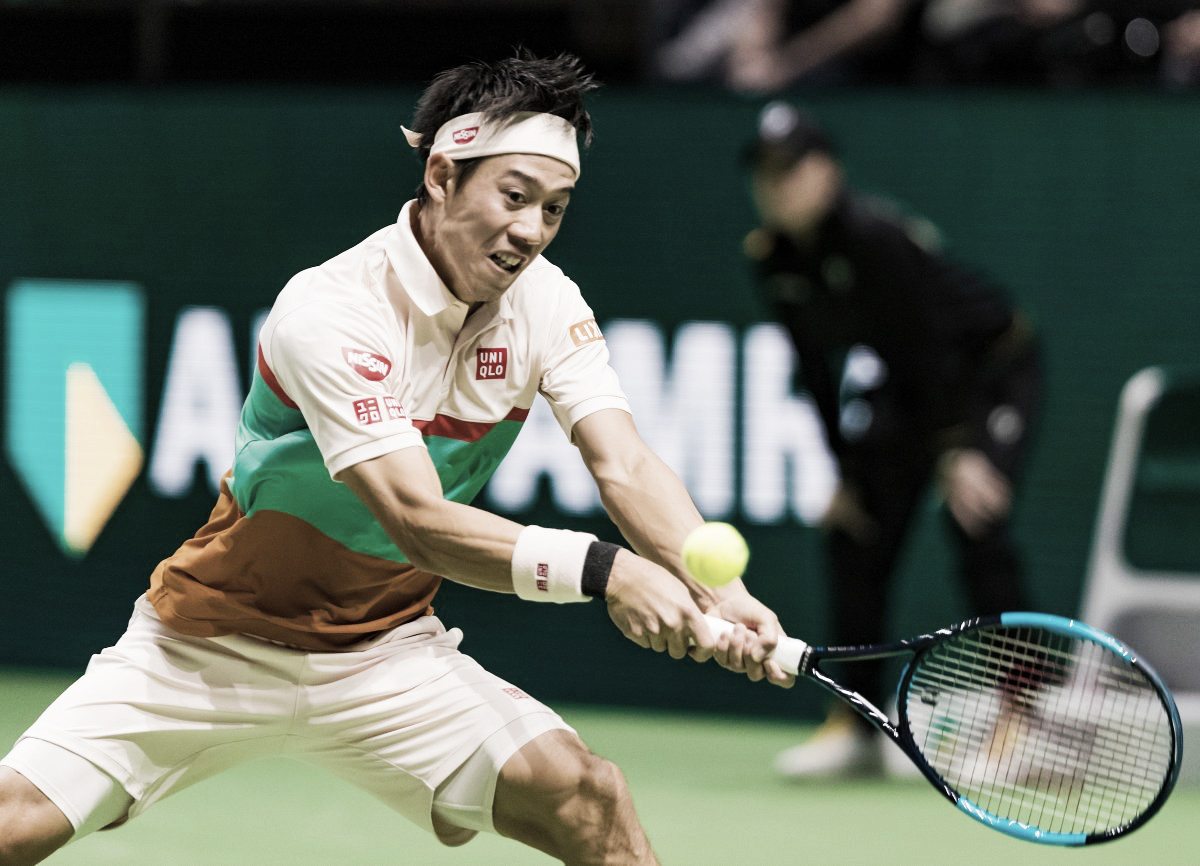 Estreia suada: Nishikori sai atrás, mas vira contra Herbert e avança no ATP 500 de Roterdã