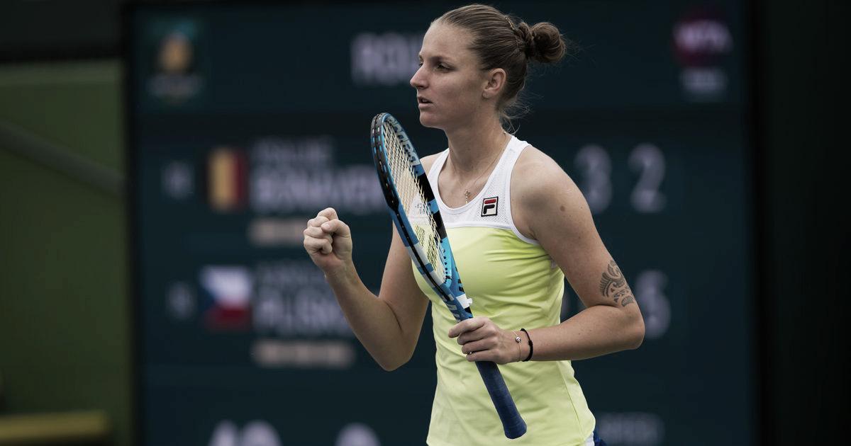 Sem dificuldades, Pliskova bate Bonaventure e vai às oitavas do WTA Premier de Indian Wells