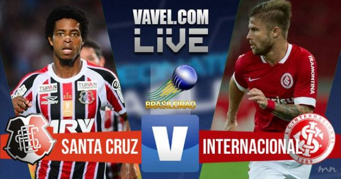 Resultado Santa Cruz x Internacional no Campeonato Brasileiro 2016 (1-0)