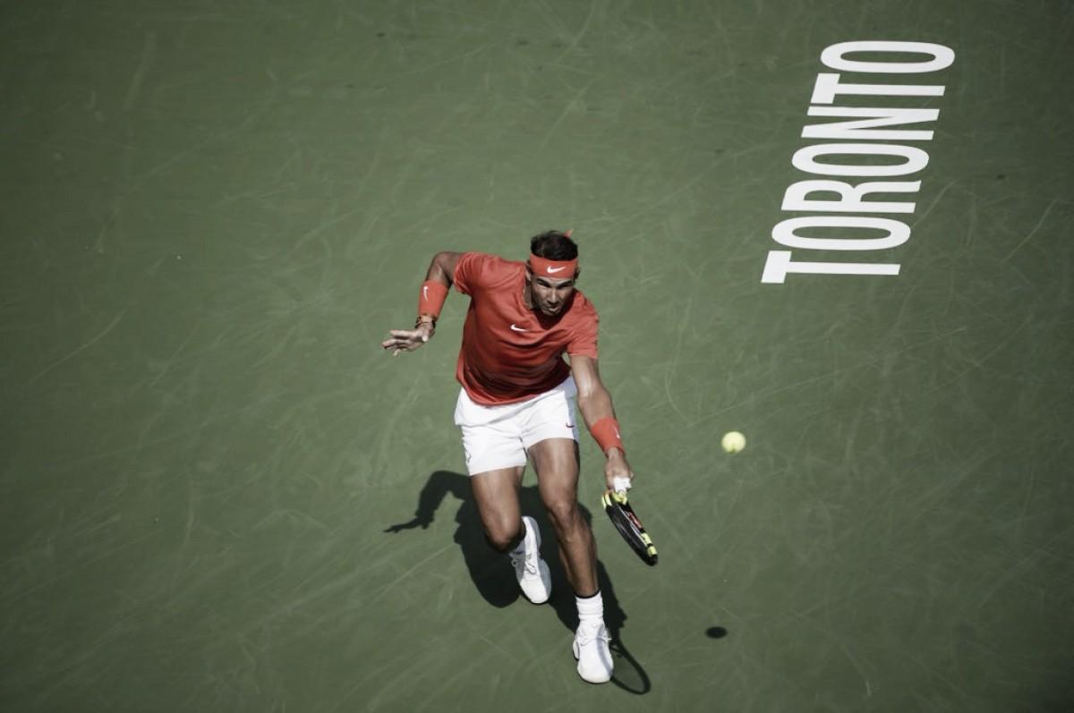 Nadal sofre nos momentos finais, mas vence Tsitsipas e garante título do Masters 1000 de Toronto