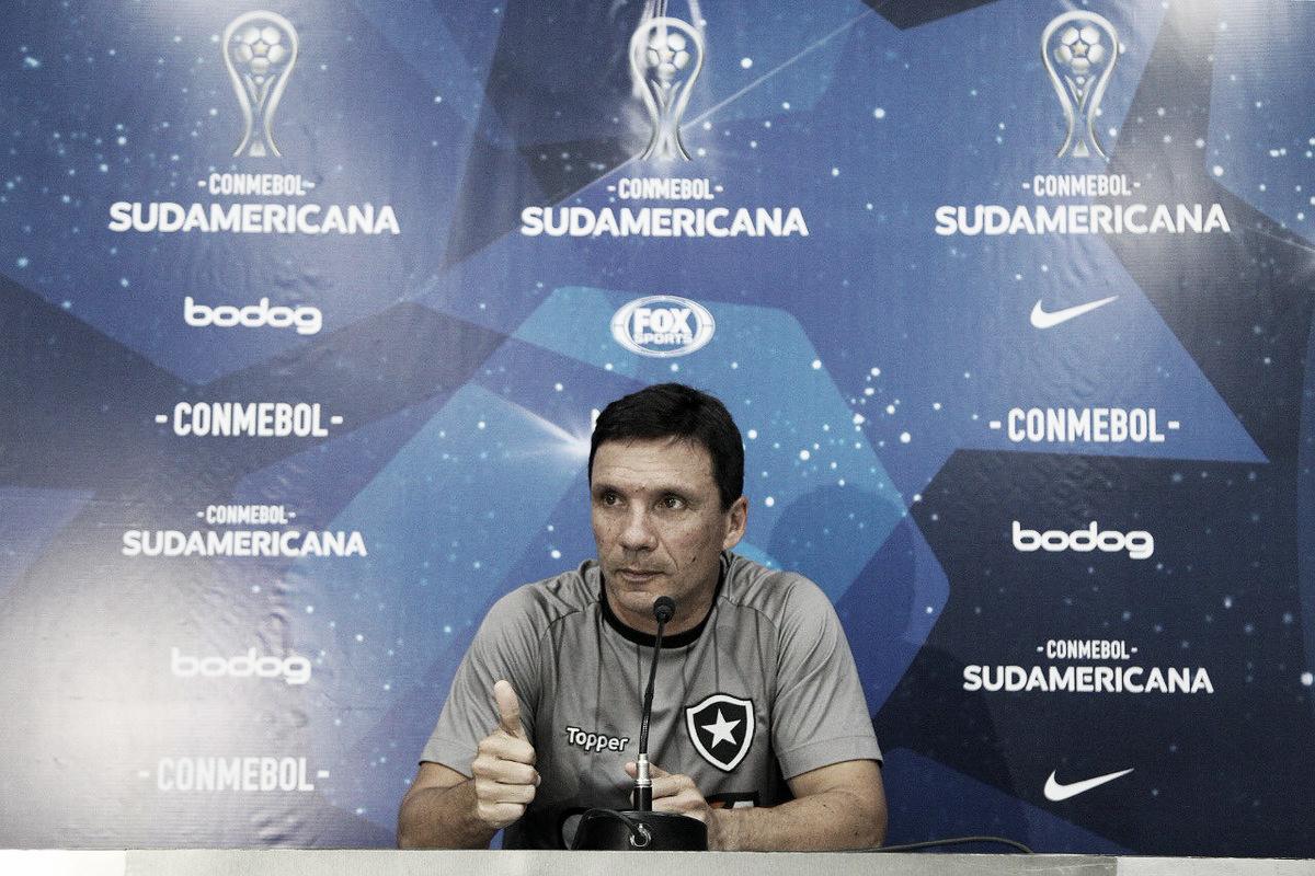 Zé Ricardo enaltece postura do Botafogo no início da partida e lamenta eliminação nos pênaltis