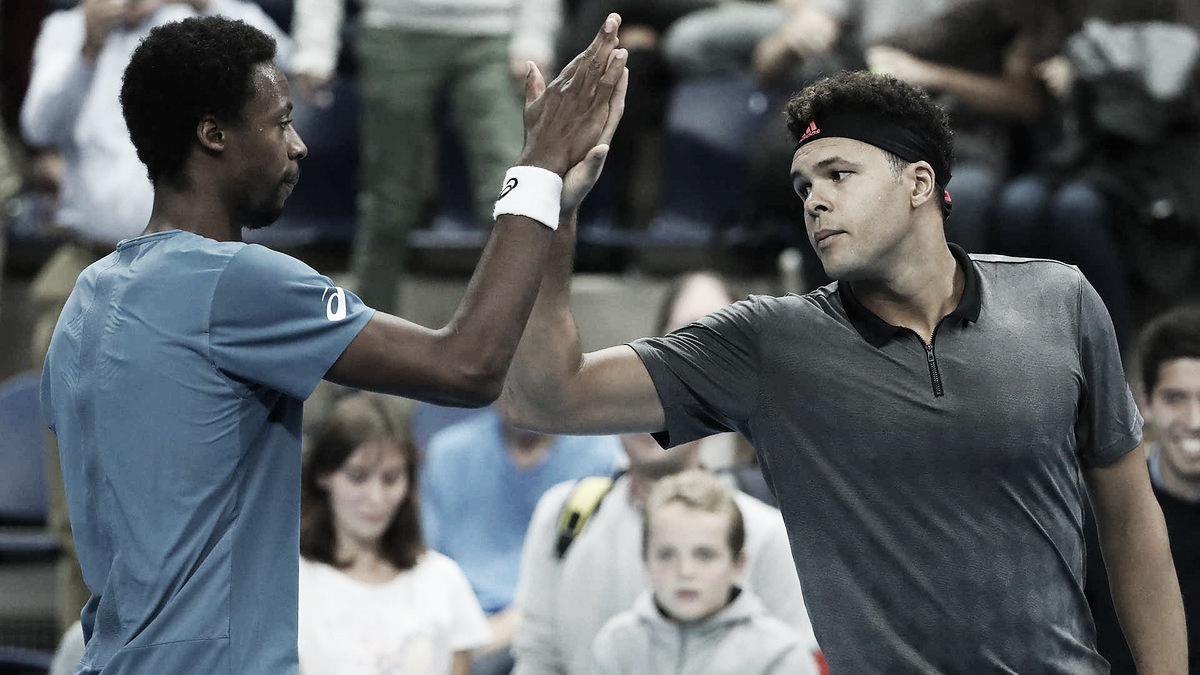 No duelo de ícones franceses, Monfils vence Tsonga e avança às quartas no ATP 250 da Antuérpia