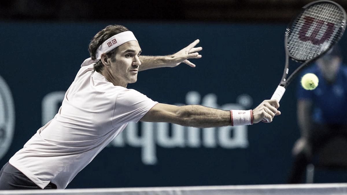 Alternando altos e baixos, Federer sua para vencer Krajinovic em seu debute na Basileia