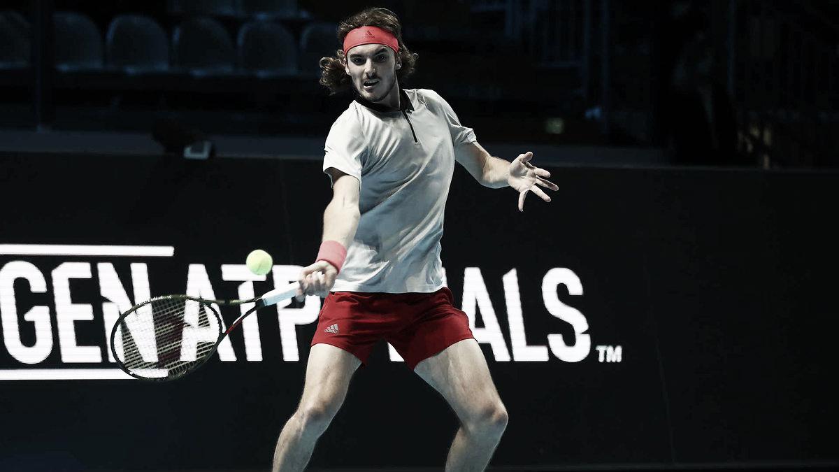Tsitsipas confirma favoritismo e vence Munar na estreia do Next Gen ATP Finals