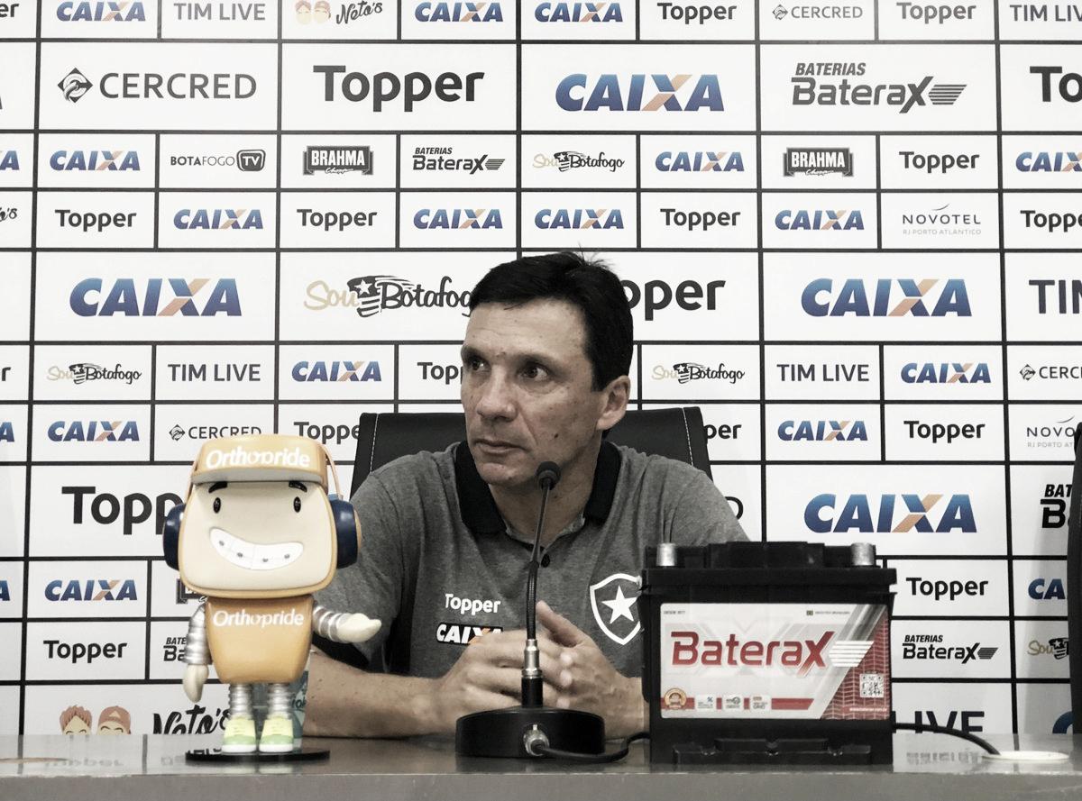Zé Ricardo comemora bom momento do Botafogo e traça novas metas no Brasileirão
