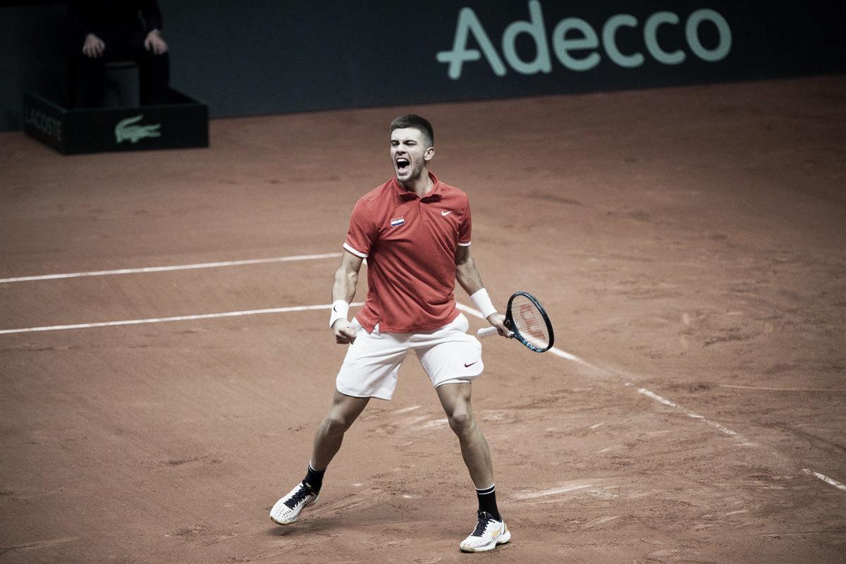Coric domina Chardy e Croácia larga na frente na decisão da Copa Davis