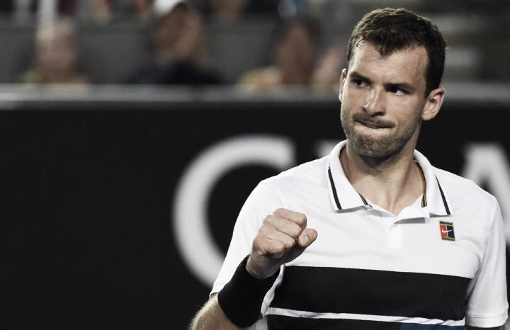 Dimitrov leva susto, mas supera Cuevas e avança no Aberto da Austrália