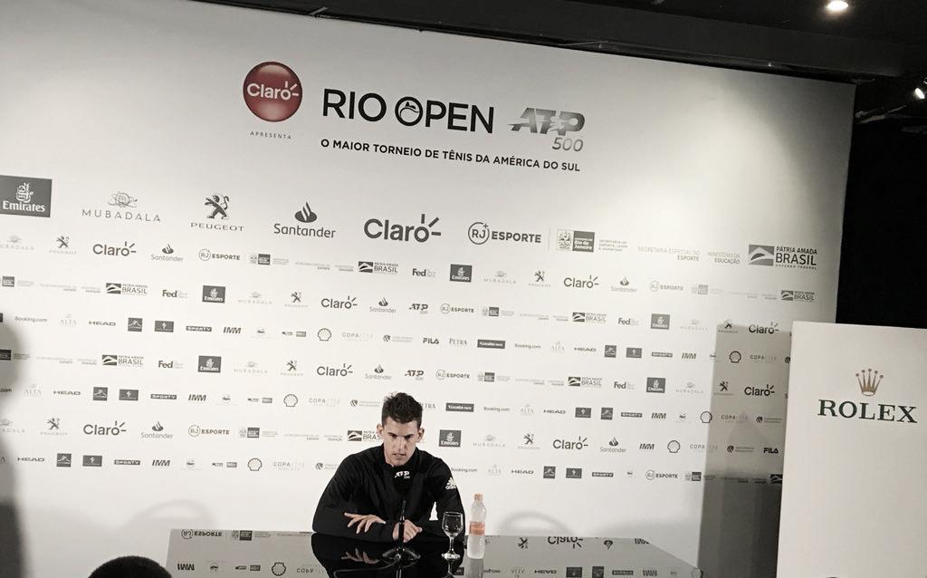 Campeão em 2017, Thiem rasga elogios ao Rio Open e projeta estreia no torneio