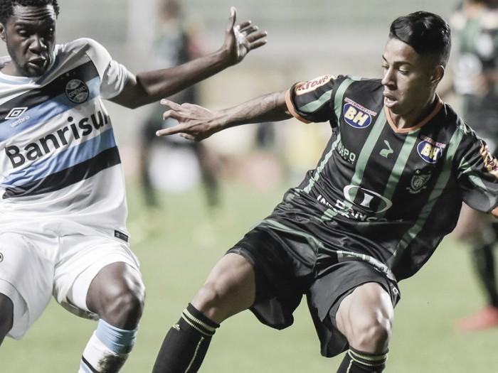 América-MG e Grêmio pecam na finalização e apenas empatam no Independência