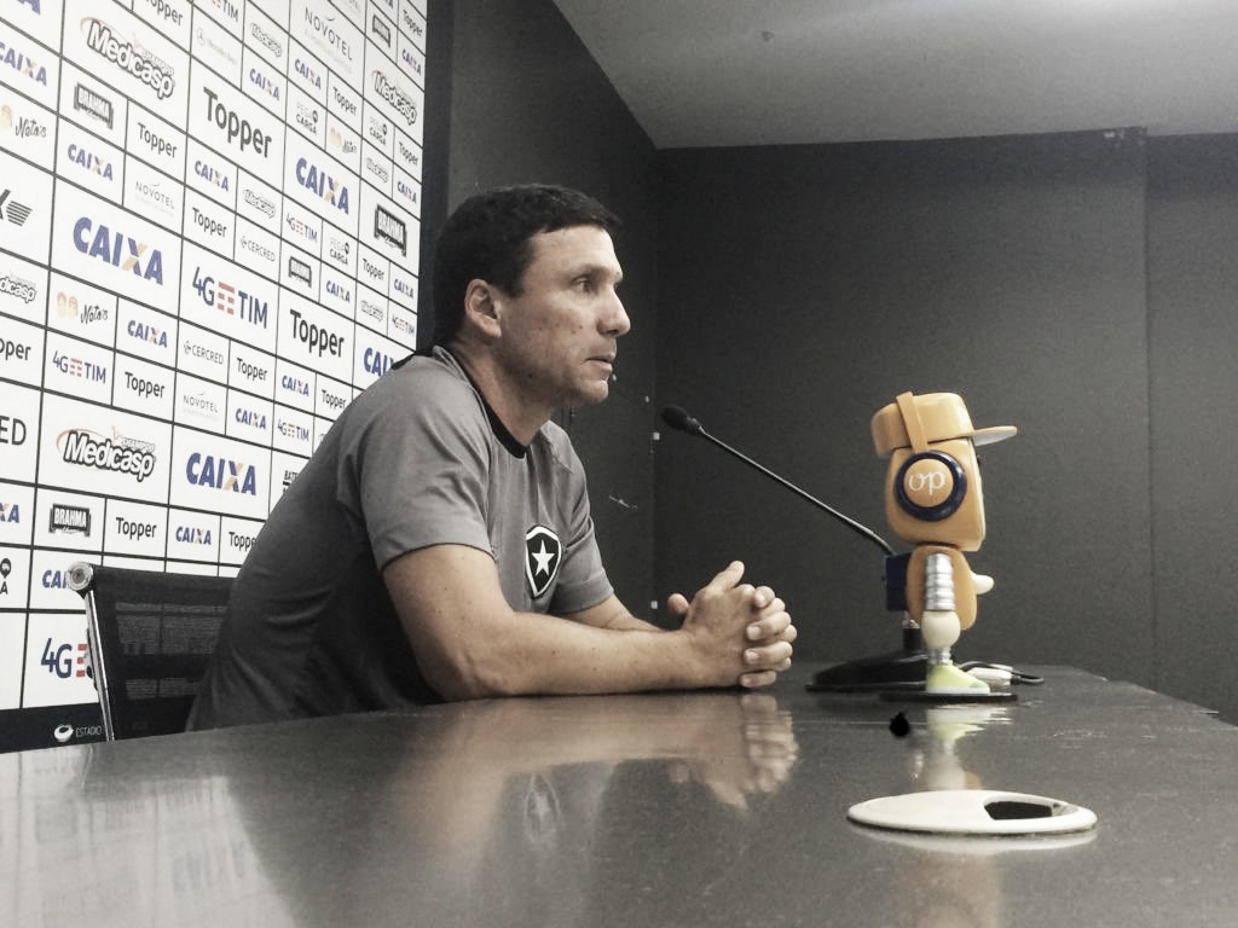 Apesar da situação incômoda, Zé Ricardo confia em arrancada do Botafogo no Brasileirão