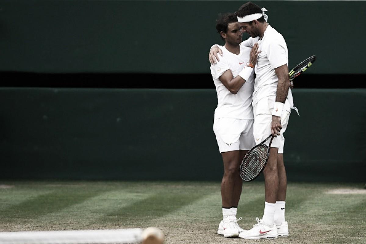 Nadal vence batalha épica contra Del Potro e está nas semifinais de Wimbledon