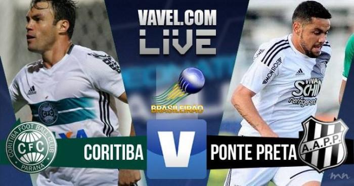Resultado Coritiba x Ponte Preta no Brasileirão 2016 (3-1)