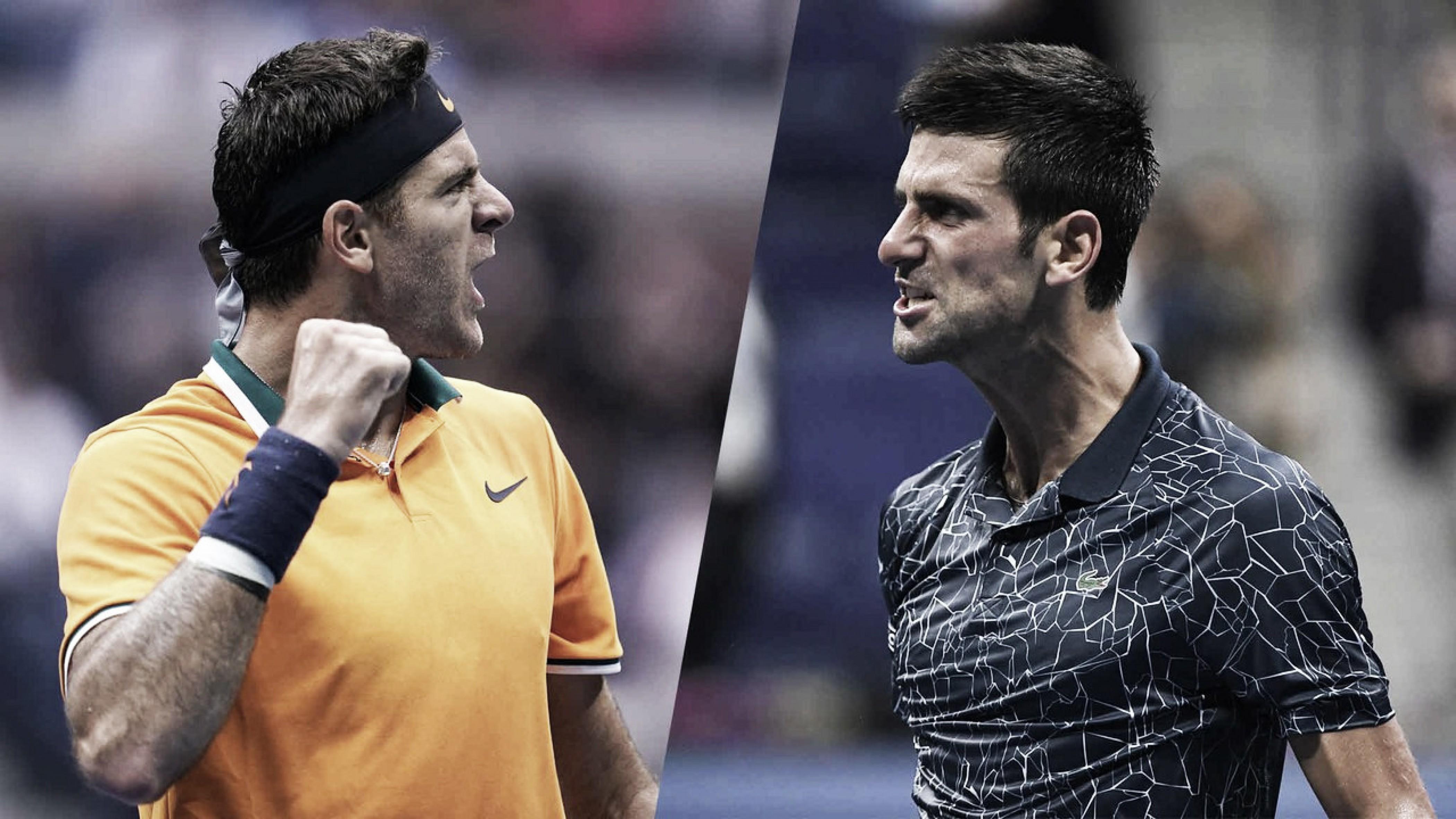 Del Potro e Djokovic fazem decisão de alto nível no US Open