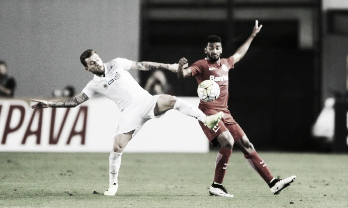Santos constrói vitória, mas Inter desconta e deixa confronto em aberto para volta