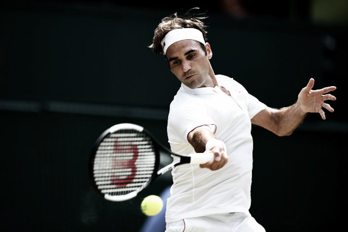 Com mais uma bela atuação, Federer passa por Mannarino e avança às quartas de Wimbledon