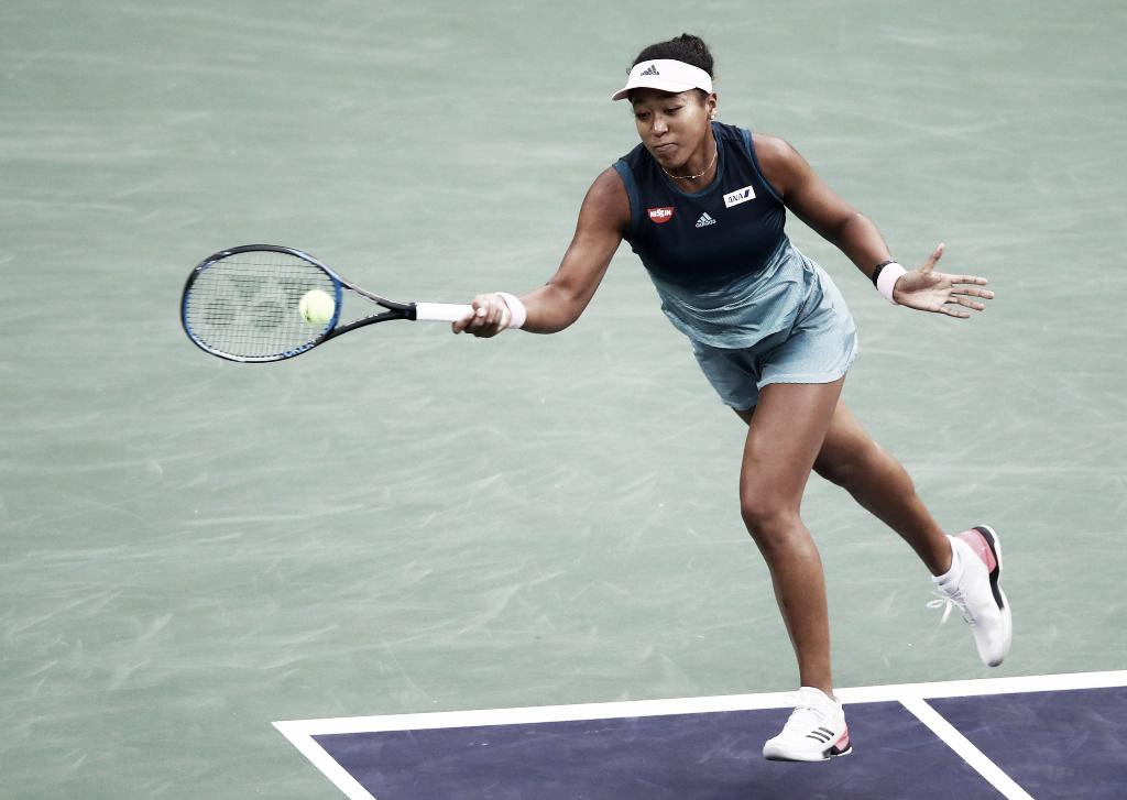 Osaka leva susto, mas domina Wickmayer e avança à terceira rodada do WTA de Miami