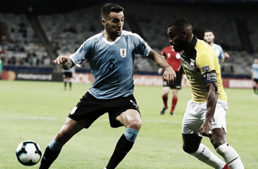 Após sentir na estreia do Uruguai, Vecino tem lesão confirmada e está fora da Copa América
