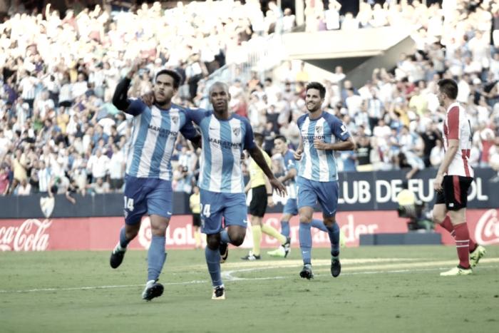 El Málaga, tercer equipo que más jugadores ha utilizado en lo que va de Liga