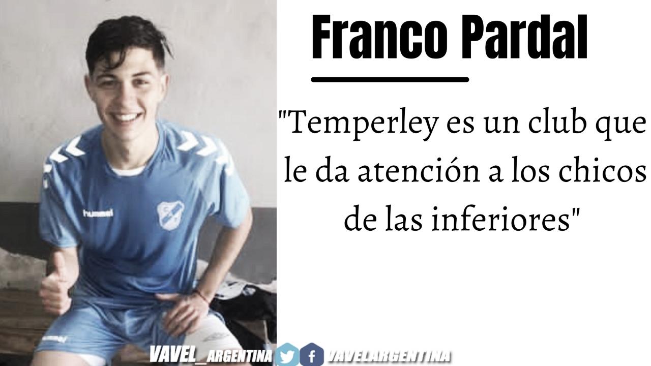 Franco Pardal: ''Quiero llegar a Primera División y ganar un título''