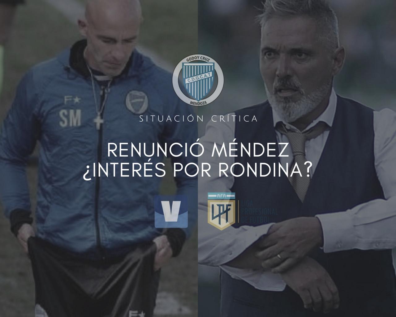Sebastián Méndez dejó de ser técnico de Godoy Cruz