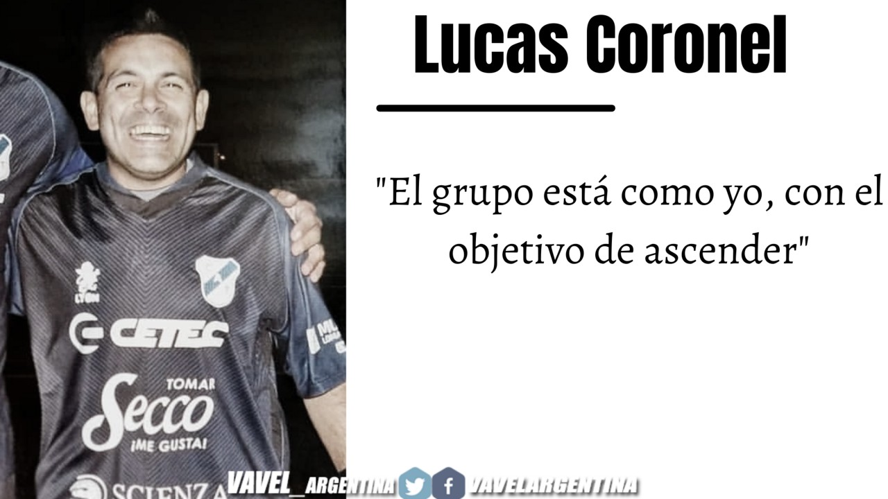 Lucas Coronel: ''Tengo un sentido de pertenencia con el club''