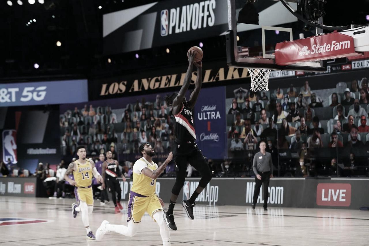 Lillard decide no fim, e Blazers vence Lakers no primeiro jogo da série