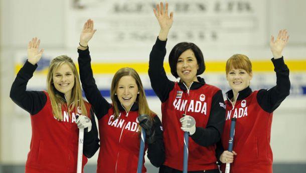 Il quartetto vincente canadese: jones, lawes, officer, mc ewen