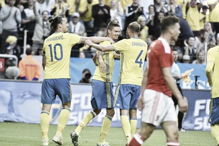 No último amistoso antes da Euro, Suécia bate País de Gales em jogo movimentado