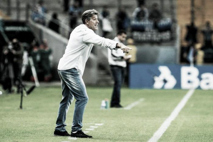 """Grêmio vence sem grande atuação, mas Renato ressalta: """"Tem horas que a determinação vale mais"""""""