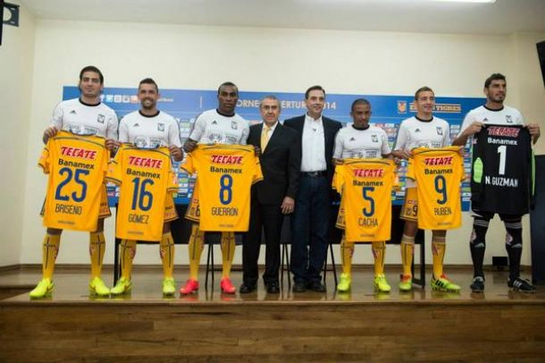 Tigres presentó a los refuerzos para el Apertura 2014