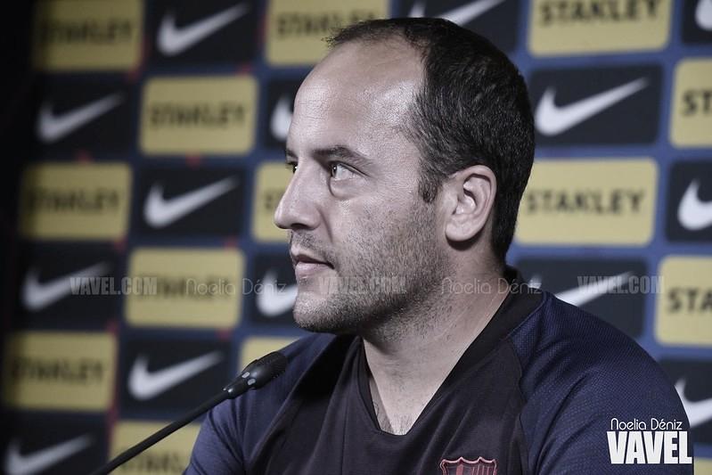 """Lluís Cortés: """"Tenemos el título de Liga a siete puntos y tenemos que conseguirlos lo antes posible"""""""