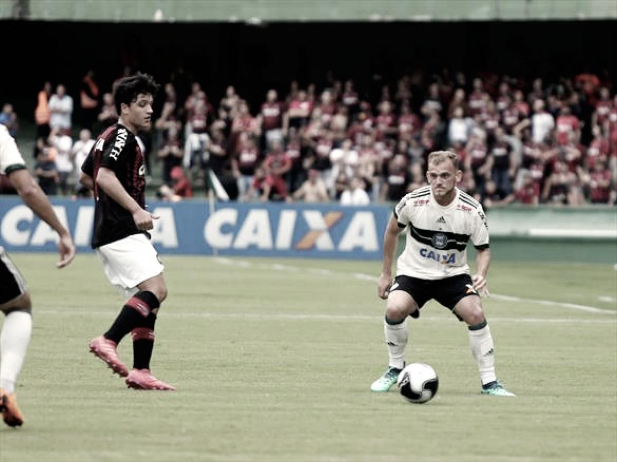 Julio Rusch marca, Coritiba quebra invencibilidade do rival e leva vantagem para segundo jogo